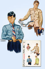 1940s Vintage Simplicity Sewing Pattern 2049 Classic Little Boys Shirt Size 8