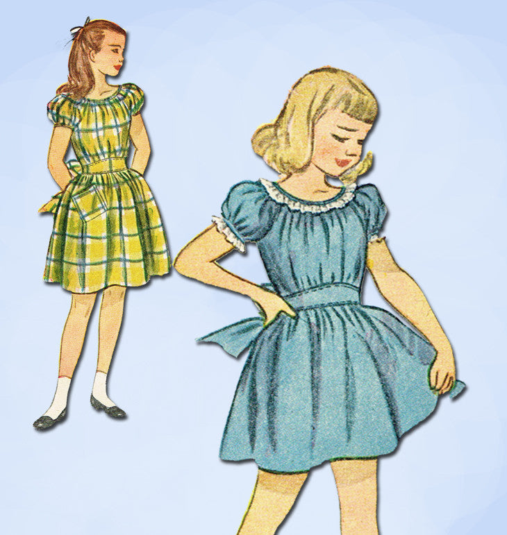 1940s Vintage Simplicity Sewing Pattern 2096 Sweet Little Girls ...