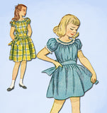 1940s Vintage Simplicity Sewing Pattern 2096 Sweet Little Girls Dress Size 10