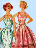 1950s Vintage Simplicity Sewing Pattern 2104 Misses Sun or Party Dress Sz 32 B - Vintage4me2