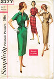 1950s Vintage Simplicity Sewing Pattern 2177 Uncut Misses Easy Dress Size 11 31B