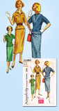 1950s Vintage Simplicity Sewing Pattern 2180 FF Misses Easy 2 PC Dress Size 14