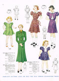 1930s Vintage Simplicity Sewing Pattern 2189 Toddler Girls Princess Dress Size 4 - Vintage4me2