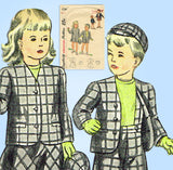 1940s Vintage Simplicity Sewing Pattern 2206 WWII Toddler Boy Girl Suits Size 2 - Vintage4me2