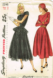 1940s Vintage Simplicity Sewing Pattern 2246 Uncut Misses Peplum Dress Size 30 B