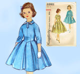 1950s Vintage Simplicity Sewing Pattern 2285 Teen Girls Party Dress Sz 14