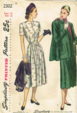 1940s Vintage Simplicity Sewing Pattern 2302 Misses Maternity Dress Size 32 Bust - Vintage4me2