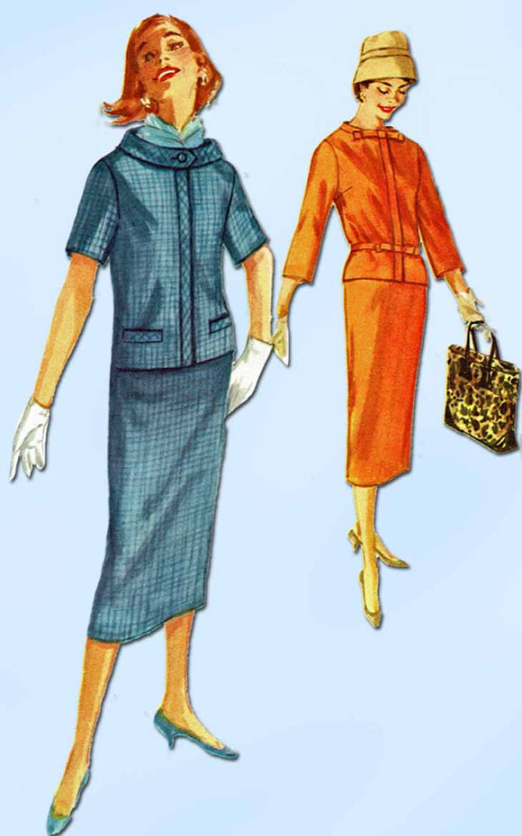 1950s Vintage Simplicity Sewing Pattern 2311 Uncut Misses 2 Piece Dress Size 13