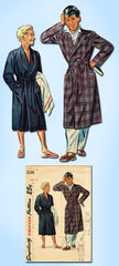 1940s Vintage Simplicity Sewing Pattern 2338 Uncut Little Boys Robe Size 8 26 B