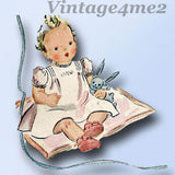 Simplicity 2342: 1940s Cute Baby's Layette Set w Booties Vintage Sewing Pattern - Vintage4me2