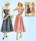 1940s Vintage Simplicity Sewing Pattern 2357 Misses Peplum Dress Size 33 Bust