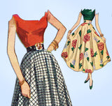 1940s Vintage Simplicity Sewing Pattern 2359 Misses Ballerina Length Skirt 28 W