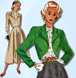 1940s Vintage Simplicity Sewing Pattern 2372 Misses Suit and Tucked Blouse 31B - Vintage4me2