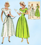 1940s Vintage Simplicity Sewing Pattern 2412 Misses Graduation Prom Dress Sz 33B - Vintage4me2