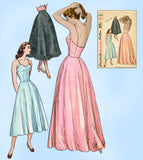 1940s Vintage Simplicity Sewing Pattern 2423 Easy Misses Evening Length Slip 32B