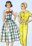 1950s Vintage Simplicity Sewing Pattern 2451 Easy Uncut Misses Sun Dress Size 14