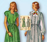 1940s Vintage Simplicity Sewing Pattern 2459 Misses Maternity Dress Sz 30 Bust -Vintage4me2
