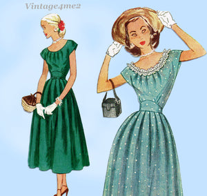 Simplicity 2469: 1940s Cute Misses Dress Sz 30 Bust Vintage Sewing Pattern