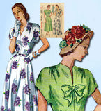 1940s Vintage Simplicity Sewing Pattern 2486 Uncut Misses Dress SIze 20 38B - Vintage4me2