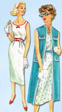 1950s Vintage Simplicity Sewing Pattern 2495 Uncut Wiggle Sun Dress Size 12 32 B