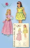 1940s Vintage Simplicity Sewing Pattern 2555 Toddler Girls Flower Girl Dress Sz6