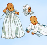 1940s Vintage Simplicity Sewing Pattern 2656 Infant Layette Christening Dress