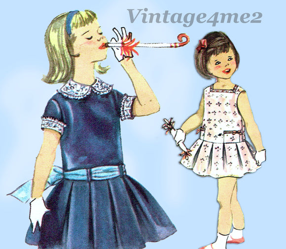 Simplicity 2718: 1950s Toddler Girls Dress or Gown Size 2 Vintage Sewing Pattern - Vintage4me2