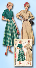 1940s Original Vintage Simplicity Pattern 2764 Misses Easy Dress Size 12 30B