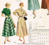1940s Original Vintage Simplicity Pattern 2764 Misses Dress Size 31 Bust