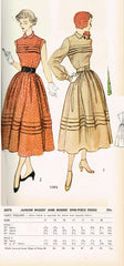 1940s Vintage Simplicity Sewing Pattern 3075 Misses Tucked Sun Dress Size 32 B