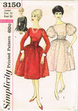 1950s Vintage Simplicity Sewing Pattern 3150 Uncut Misses Party Dress Sz 13 33B