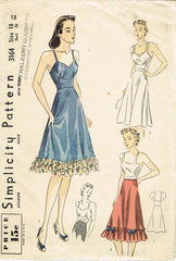 1930s Vintage Simplicity Sewing Pattern 3164 Uncut Misses Slip or Camisole 36 B