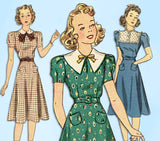 1930s Vintage Simplicity Sewing Pattern 3174 Junior Misses Street Dress Sz 32 B - Vintage4me2