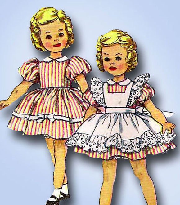1950s Vintage Simplicity Sewing Pattern 3217 Cute 12 Inch Shirley Temple Doll Clothes