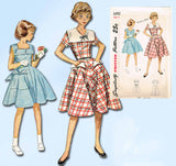 1950s Vintage Simplicity Sewing Pattern 3292 Uncut Little Girls Dress Size 8