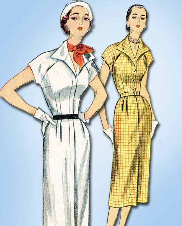 1950s Vintage SImplicity Sewing Pattern 3577 Misses Street Dress Size 14 32B