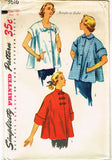 1950s Vintage Simplicity Sewing Pattern 3616 Uncut Misses Maternity Top Size 16