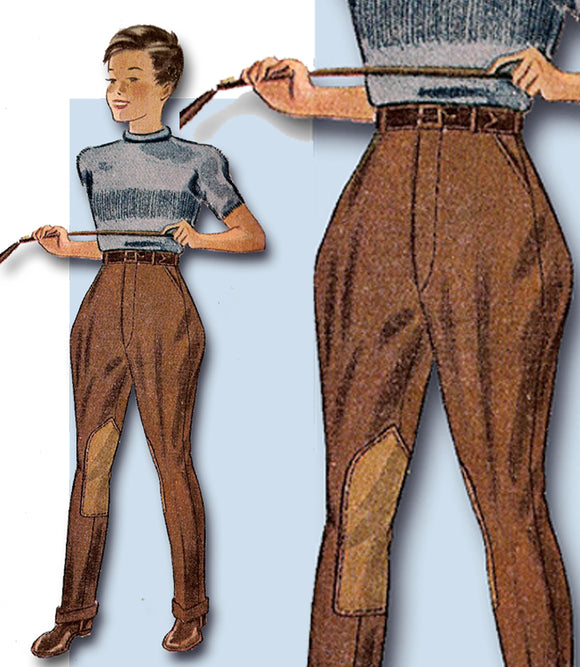 1930s Vintage Simplicity Sewing Pattern 3650 Boys Trousers or Jodhpurs Size 8