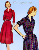 1950s Vintage Simplicity Sewing Pattern 3707 Misses Half Size Street Dress 35 B