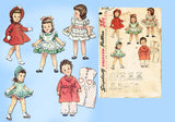 1950s Vintage Simplicity Sewing Pattern 3728 14 Inch Toni Doll Clothes Set Vintage4me2