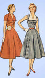 1950s Vintage Simplicity Sewing Pattern 3847 Misses Sleeveless Sun Dress Size 16