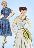 1950s Vintage Simplicity Sewing Pattern 3876 Misses Easy Sun Dress Size 14 32 B -Vintage4me2