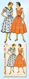 1950s Vintage Simplicity Sewing Pattern 3890 Misses Party or Sun Dress Size 12