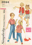 1950s Vintage Simplicity Sewing Pattern 3944 Easy Baby Shirt and Shorts Size 1