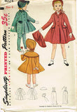1950s Vintage Toddler Girls Coat & Bonnet Uncut 1952 Simplicity Sewing Pattern 6