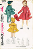 1950s Vintage Simplicity Sewing Pattern 4024 Baby Girls Coat and Bonnet Sz 2 21B