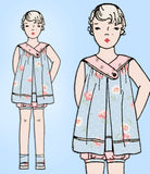 1920s Vintage Simplicity Sewing Pattern 404 Uncut Toddler Girls Tucked Dress Sz4 -Vintage4me2