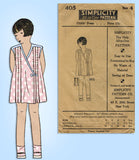 1920s Vintage Simplicity Sewing Pattern 405 Uncut Toddler Girls Tucked Dress Sz4 - Vintage4me2