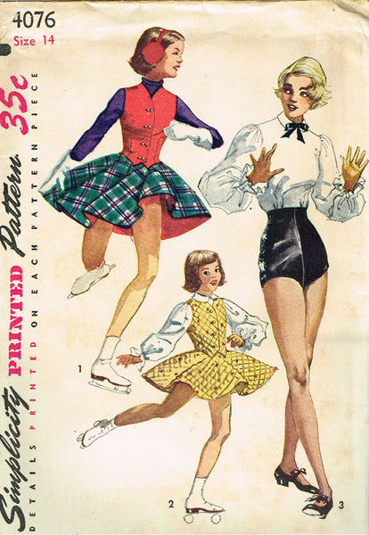 1950s Misses Simplicity Sewing Pattern 4076 Uncut Misses Dance Costume Size 32B