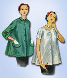 1950s Vintage Simplicity Sewing Pattern 4192 Uncut Misses Maternity Top Size 14